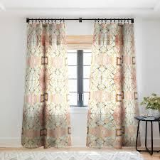 Marta Barragan Camarasa Marbled geometric Mosaic Pattern Blackout Curtain Panel