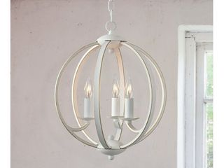 Pearl Weathered White 3 light Chandelier Retail 102 99