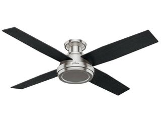 Hunter 52  Dempsey low Profile Ceiling Fan   Brushed Nickel Retail 179 99