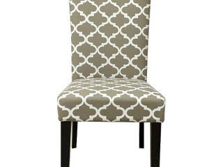 Aurora Fabric Trellis Pattern Dining Chair  Set of 2  Retail 159 99