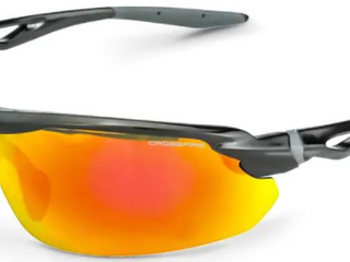 Crossfire Tritix Plastic Safety Glasses With Black Frame And Amber Mirror lens  SET OF 2