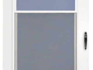 White Storm Door with Glass 31 25 x79 625