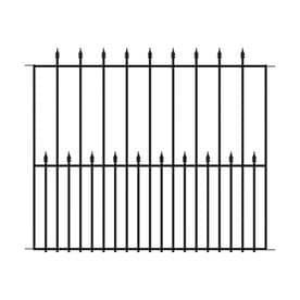 No Dig Powder Coated Steel Fence Panel  Common  40 in x 49 in  Actual  39 98 in x 48 98 in  Set of 2