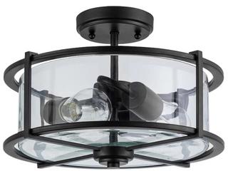 Allen   Roth 13  Transitional Incandescent Semi flush Mount light