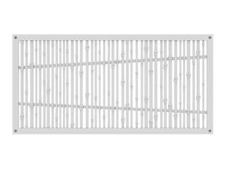 TuffBilt Bungalow 4 ft  x 2 ft  White Polymer Decorative Screen Panel 3 Panels