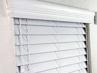 Allen and Roth Cordless Faux Wood Blind White