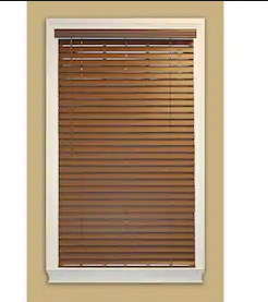 Allen and Roth Faux Wood Blinds Brown 34 5  x 64