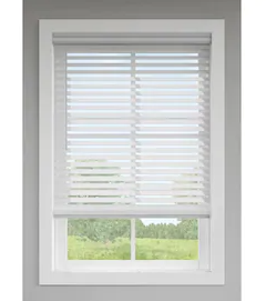levolor 2 5 in White Faux Wood Blinds Precut To 35 X 64