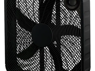 Indoor Box Fan Personal Portable Desk Room Cooler 3 speed Black 20 Inch