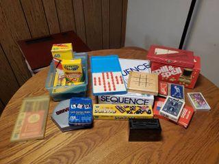 lot of Family Activities  Crayola  Cards  Dominos  Spill  amp  Spell