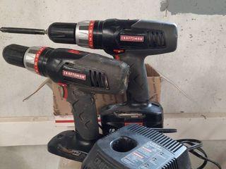 Set of Craftsman Cordless Hand Drills