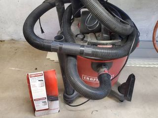 16 Gallon with 6 5 HP  Wet Dry Vacuum  with Filter Tested and Working  with Attachments