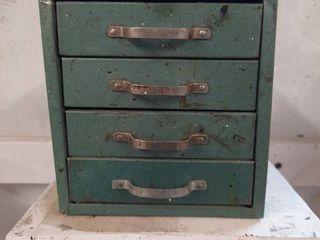 4 drawer Metal Cubby