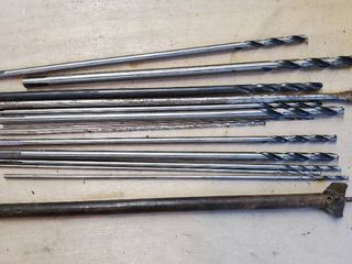 lot of 14 Drill Bits  with long Shafts  Paddle and Drill Bits