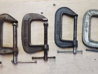 lot of 6 C Clamps  3 Inch