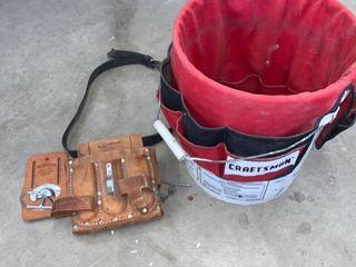 Craftsman Tool Belt and Bucket Sleeve location Under Workbench