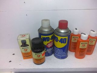 Small lot Of lubricants For Gun Cleaning Etc
