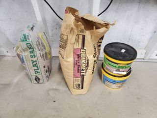 lot of QUIKRETE White Fine Sand and Cement  with All Natural Sand