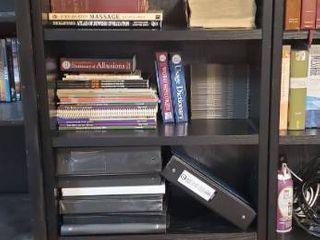 Center Black Particle Board Bookshelf   Contents Not Included