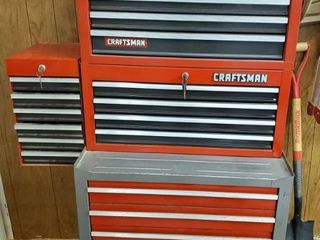 lot of 4 Craftsman Toolboxes  Stack On  with Keys