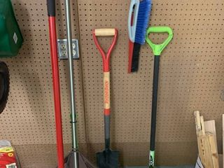 lot of Rakes and Shovels location Storage
