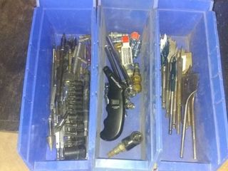 lot Of Miscellaneous Drill Bits And Socket Pieces