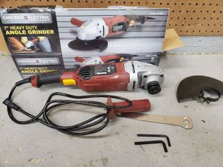 7 Inch CHICAGO Electric Heavy Duty Angle Grinder   Tested and Working