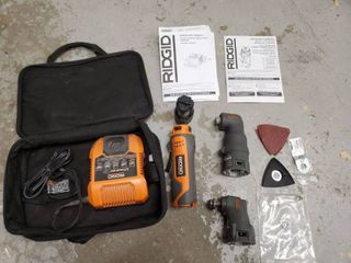 RIDGID 12V lithium Multi Tool  with 2 Attachment   and Traveling Case