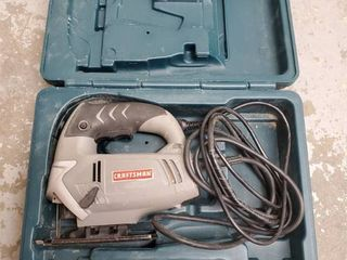 Craftsman lED Sabre Saw  In Bosh Traveling Case  Tested and Working
