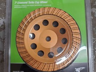 WARRIOR 7 inch DIAMOND Turbo Cup Wheel  NIB