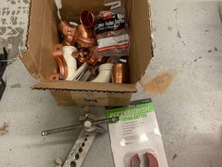 Pipe Flaring Tool Tube Cutter and Misc Plumbing Supplies location Storage