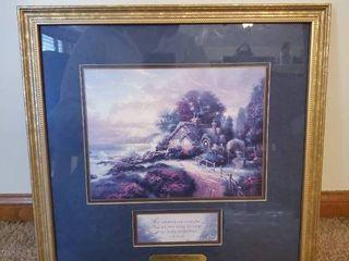 Thomas Kincade   A New Day Dawning  Wall Piece   lam3 22 23