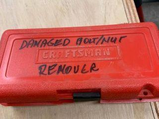 Craftsman Damaged Bolt Remover Set location Storage
