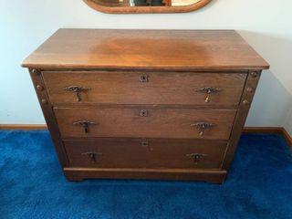 Antique Oak 3 Drawer Dresser