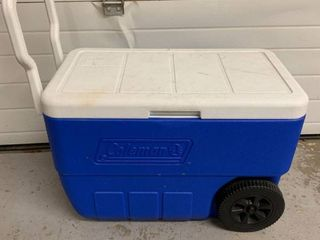 Blue Coleman Rolling Cooler location Storage