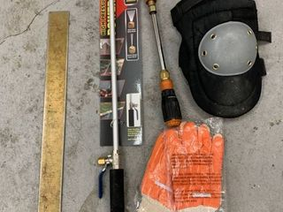 Miscellaneous Tool lot  Power Washer Wand Knee Pads location Storage
