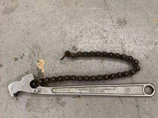 Diamond Tool Diamalloy Chain Wrench CW 12 location Storage