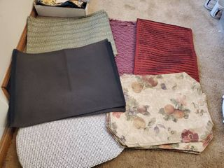 Mega lot of Place Settings and Burgandy Table Runner