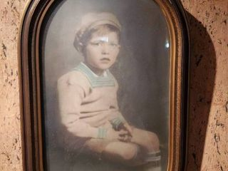 Vintage Blue Eyed Young Man