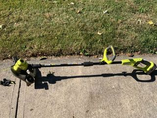 Ryobi One  18V Weed Eater Edger   Charger Included But Not Pictured Working location Shed