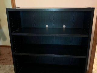 Black Wood Adjustable Bookshelf