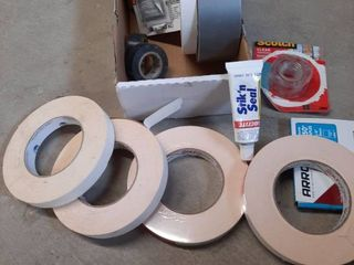 lot of Painters Tape and Adhesive