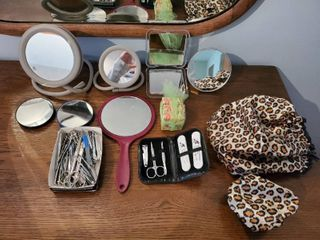lot of Vanity Mirrors and Nail Accessories
