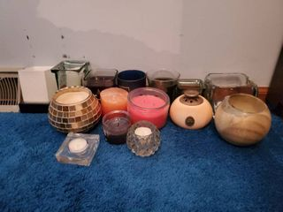 lot of Smelly Good Candles and Holders  12 Total