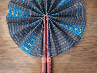 leather Handle Hand Made Fan