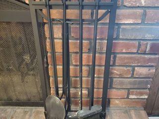 Iron Black Fireplace Accessories