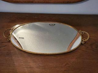 Vanity Brass Handle Mirror
