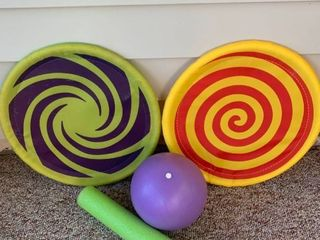 lot of Pool Toys location Patio