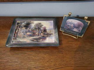 lot of 2 Thomas Kincade Collectibles   See Photos for Additonal Details