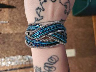 Blue and Teal Beaded Bracelet